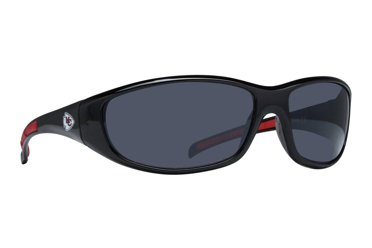 NFL Kansas City Chiefs Wrap Sunglasses Black Sunglasses