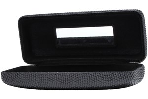 Click to swap image to alternate 1 - Evolutioneyes Textured Pebble Eyeglass Case Black GlassesCases