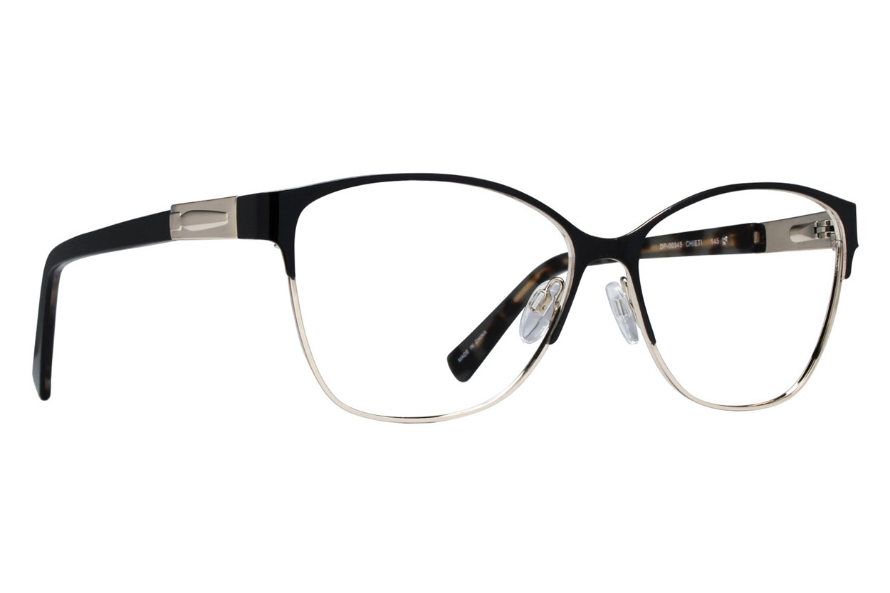 Dea Extended Size Chieti Black Glasses