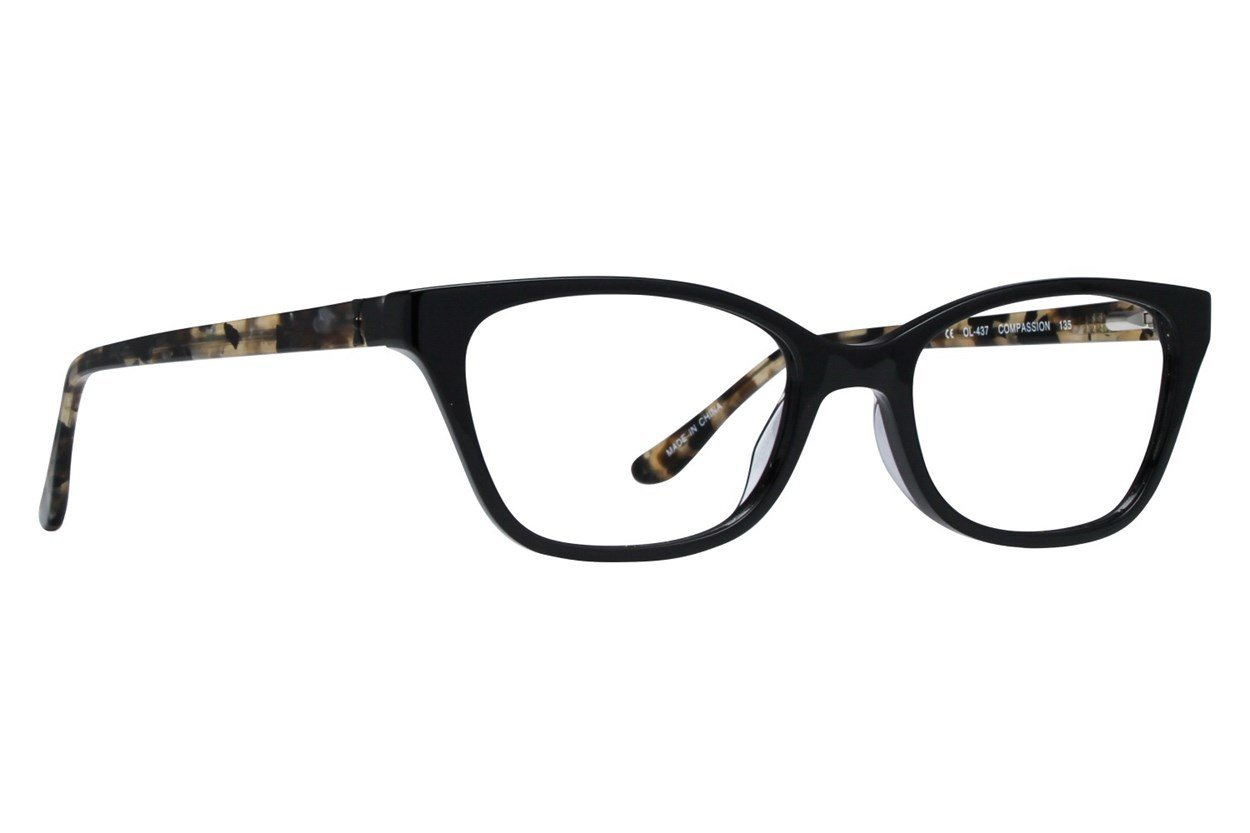 One Love Petite Compassion Black Glasses