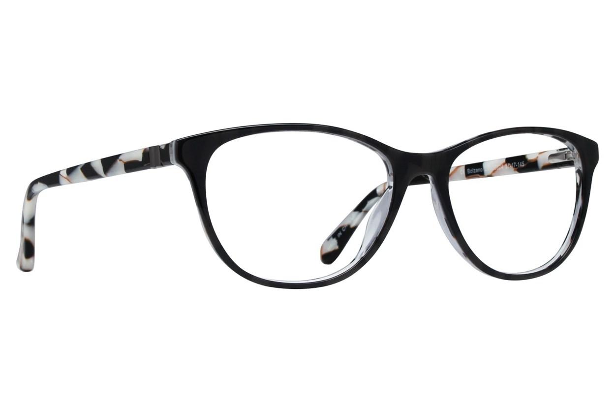 Dea Extended Size Bolzano Black Glasses
