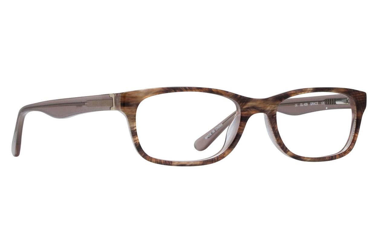 One Love Petite Grace Brown Glasses
