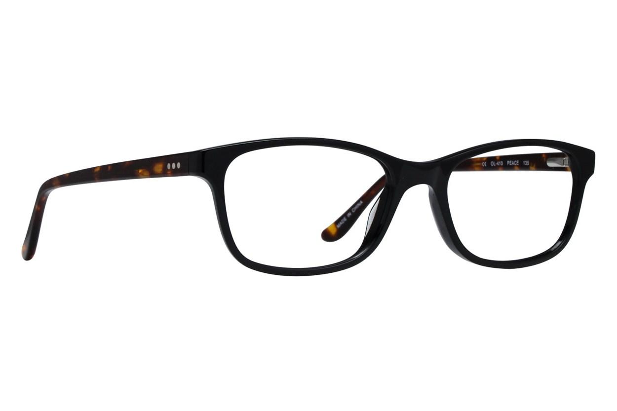 One Love Petite Peace Black Glasses