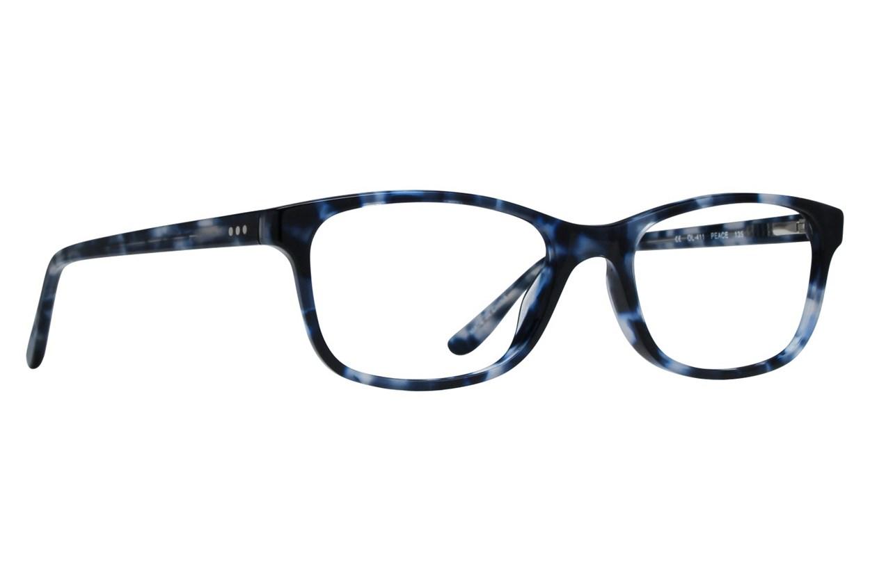 One Love Petite Peace Blue Glasses
