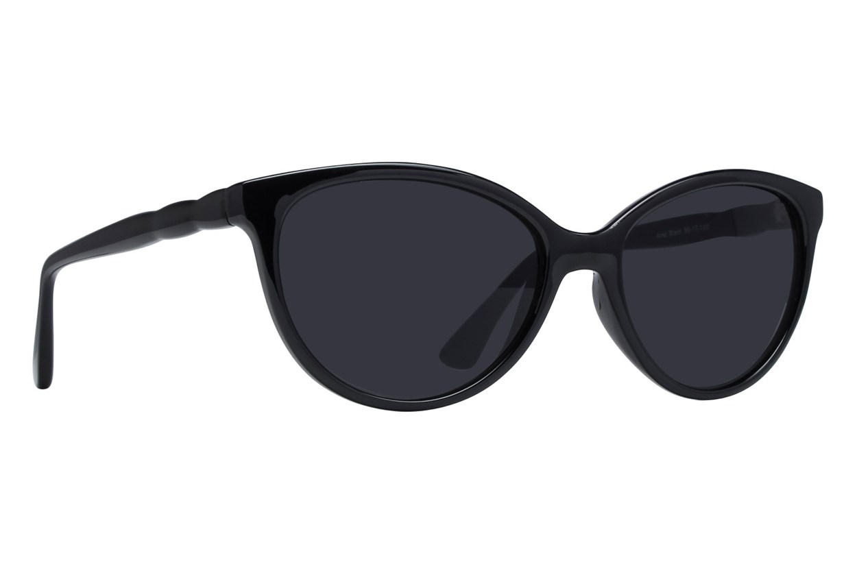 Lunettos Ariel Black Sunglasses