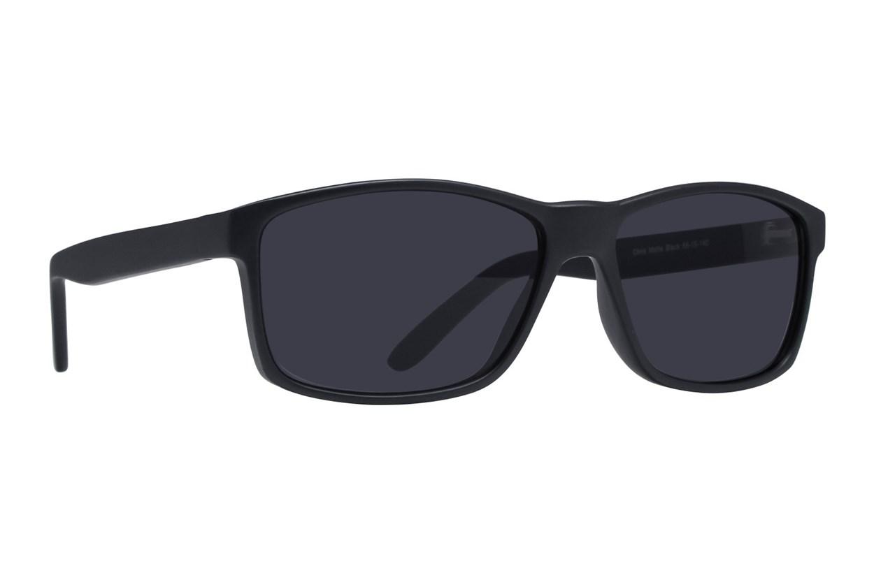Lunettos Chris Black Sunglasses