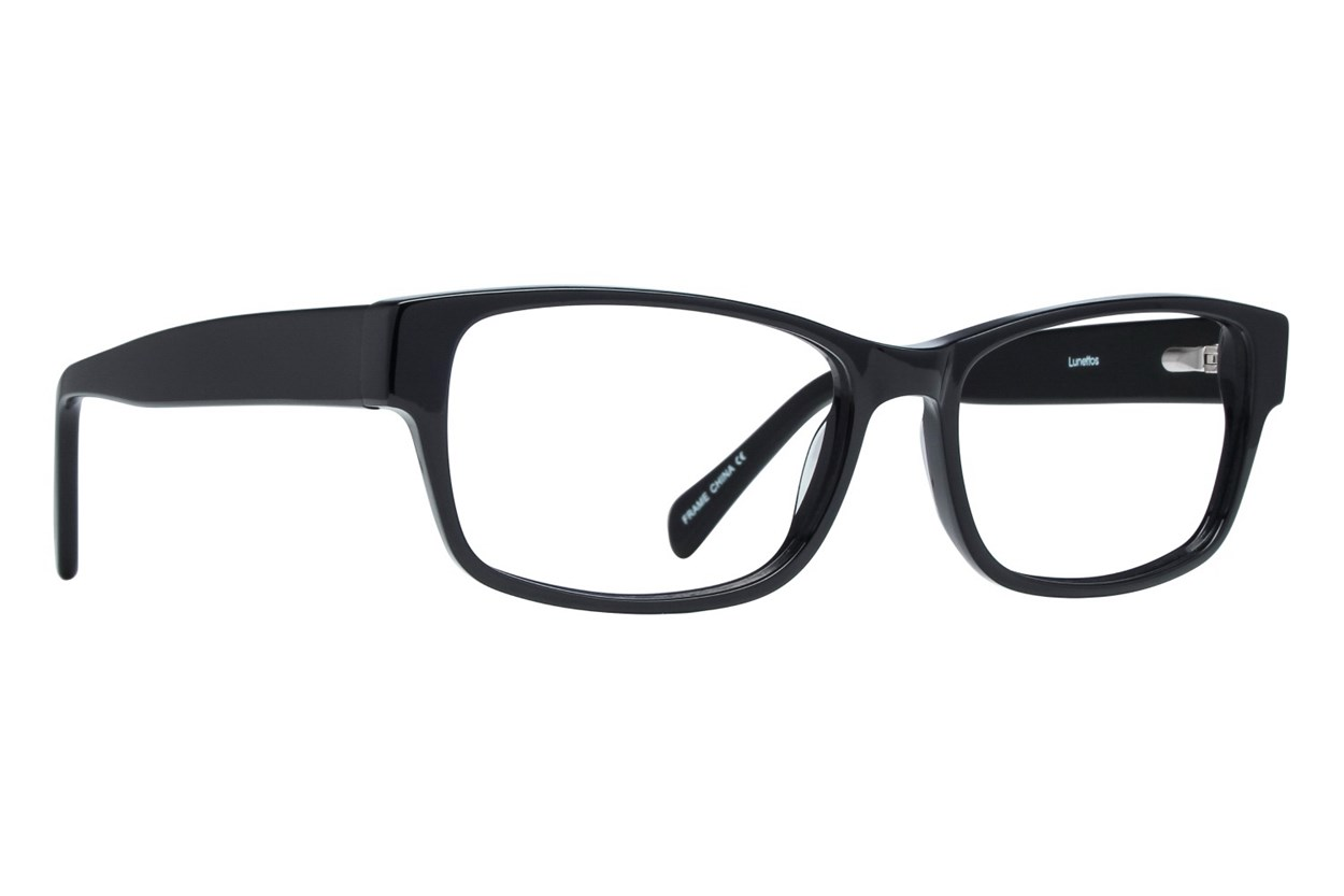 Lunettos Taylor Large Black Glasses