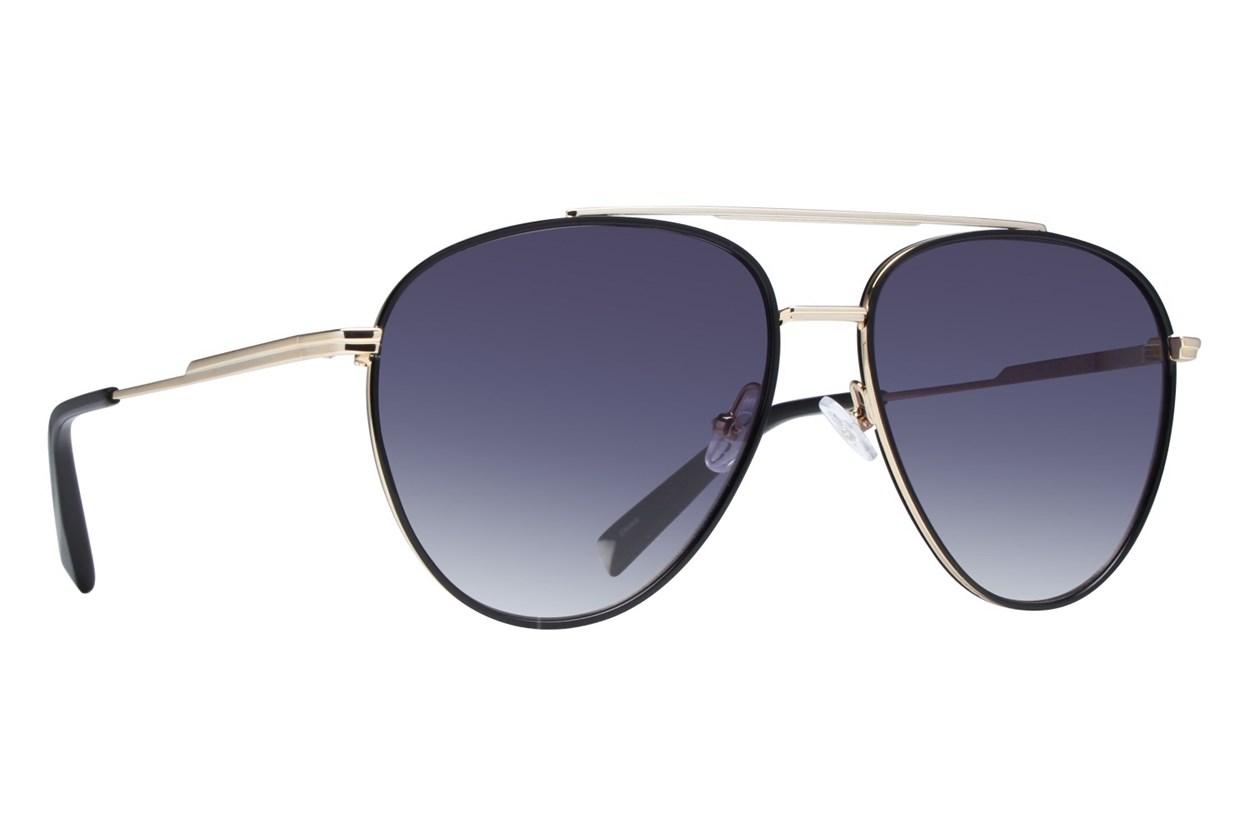 Kendall + Kylie Kelsey Black Sunglasses