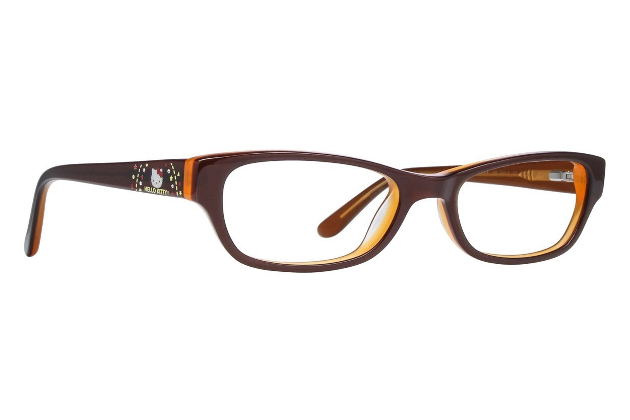 Hello Kitty HK241 Brown Glasses