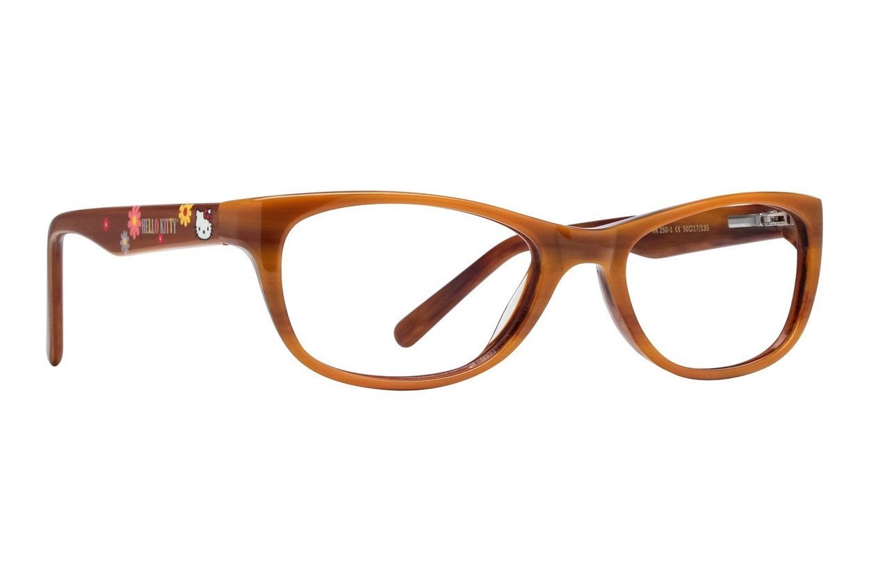 Hello Kitty HK250 Brown Glasses