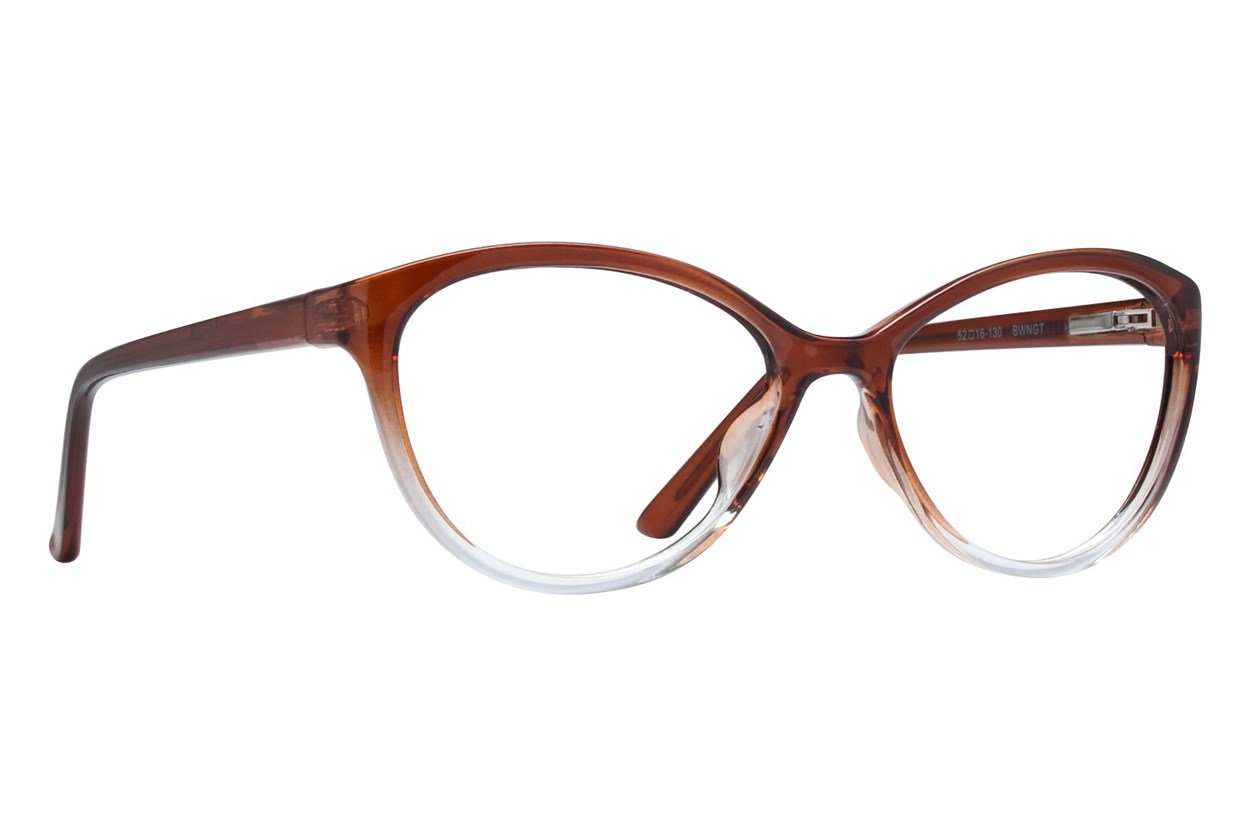 Colour Block VCWC5 Brown Glasses