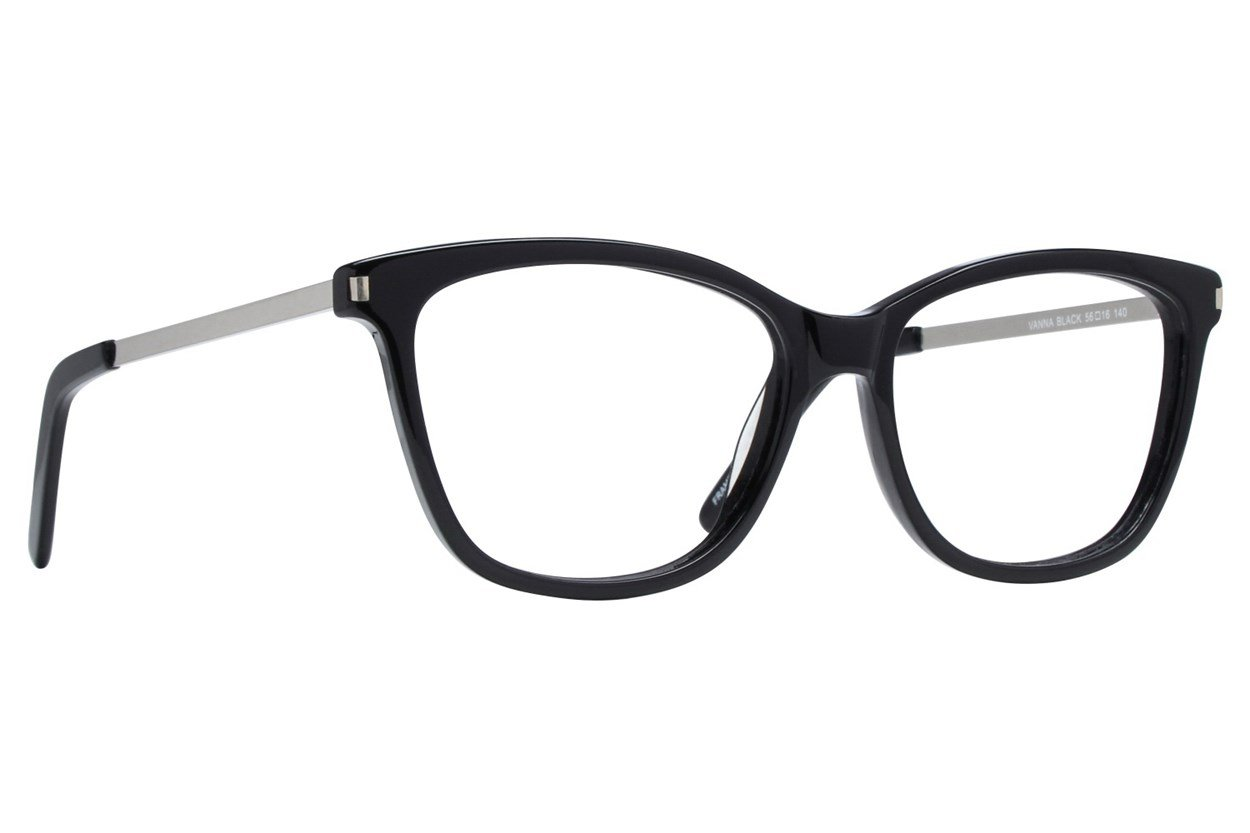 Serafina Vanna Black Glasses