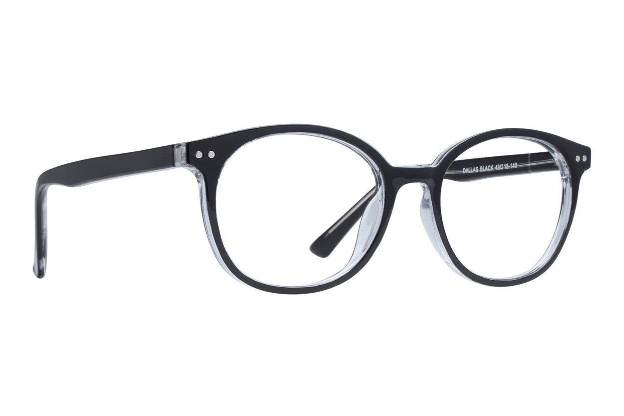Affordable Designs Dallas Black Glasses