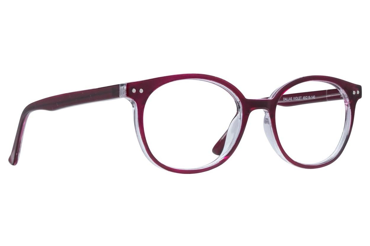 Affordable Designs Dallas Purple Glasses