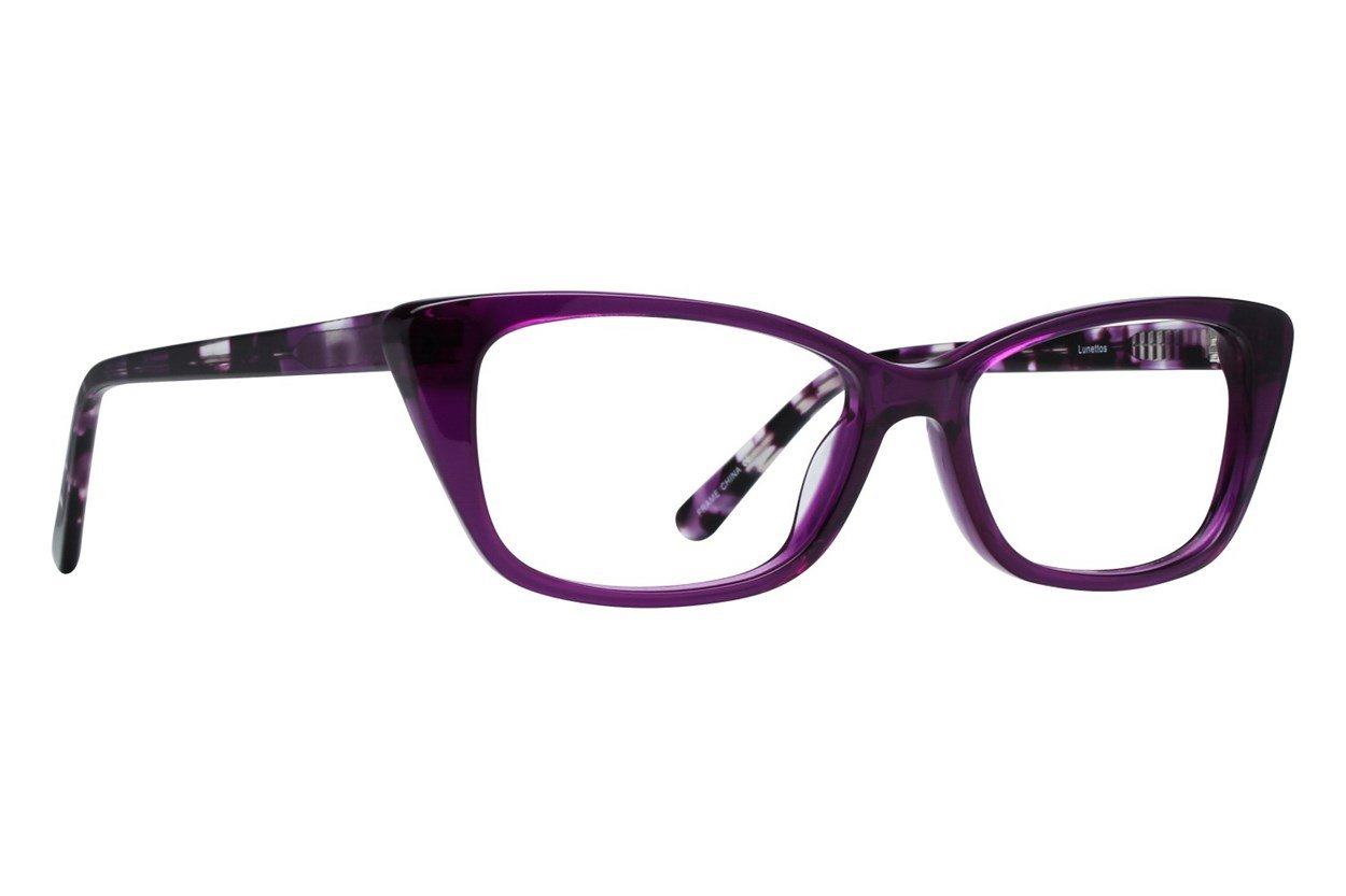 Lunettos Willow Purple Glasses