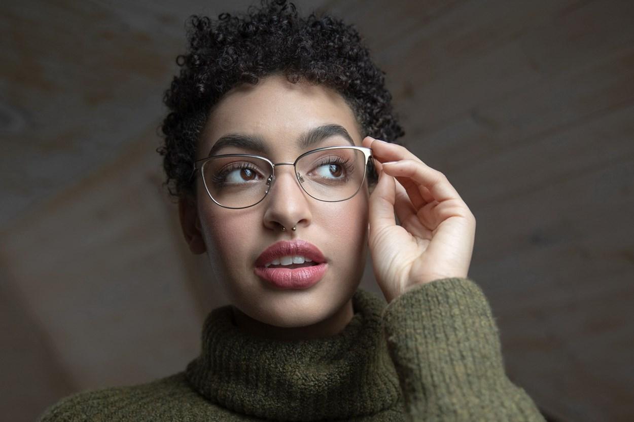 Alternate Image 1 - Lunettos Clara Gold Glasses