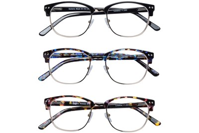 Lunettos Bellatrix Reading Glasses 3-Pack