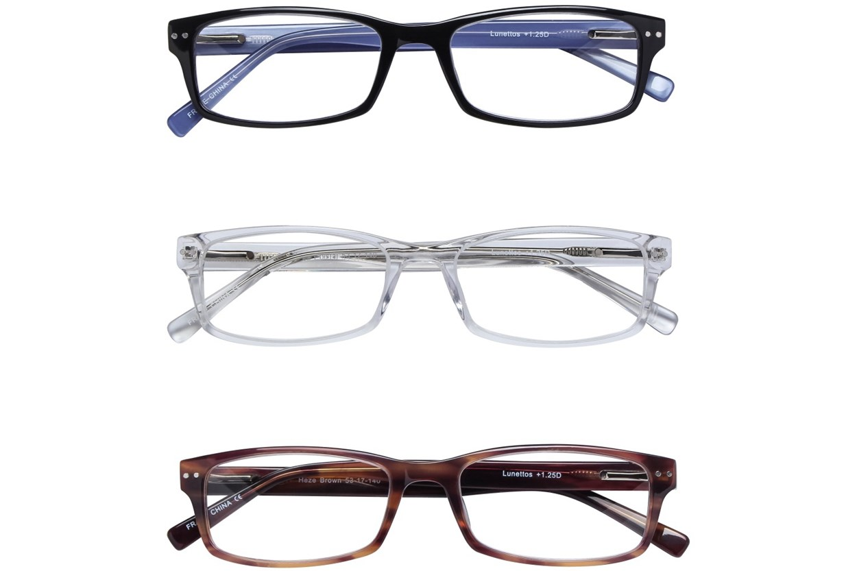 Lunettos Heze Reading Glasses 3-Pack