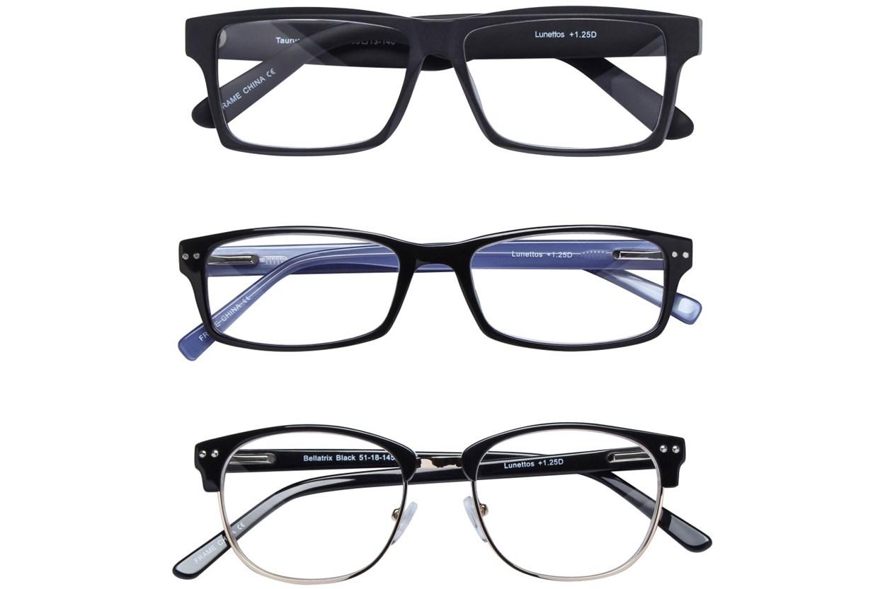 Lunettos Black Reading Glasses 3-Pack