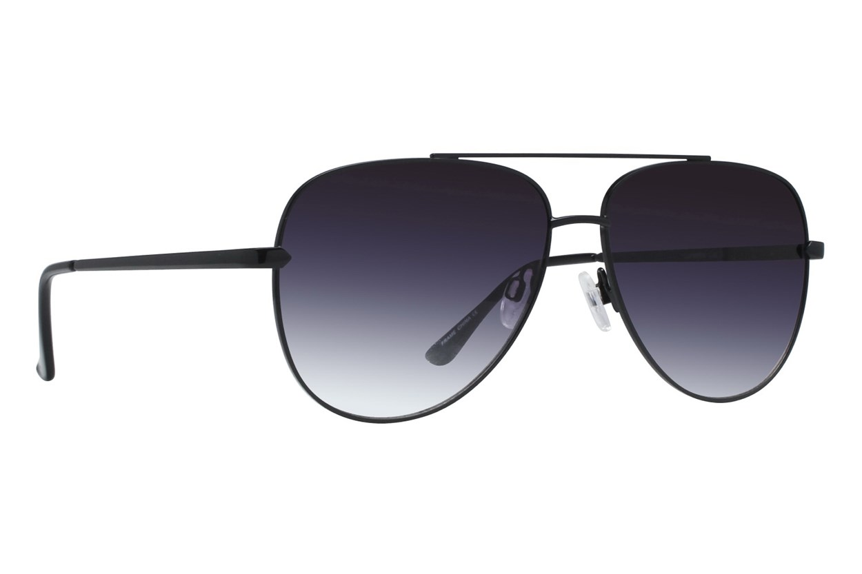 Lunettos Ira Black Sunglasses