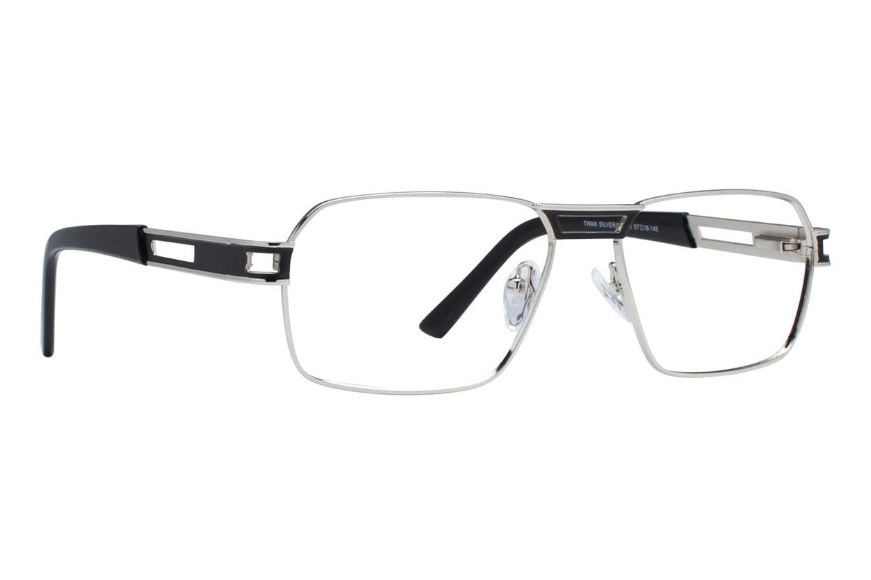 Eight To Eighty Eyewear Twan Silver Glasses