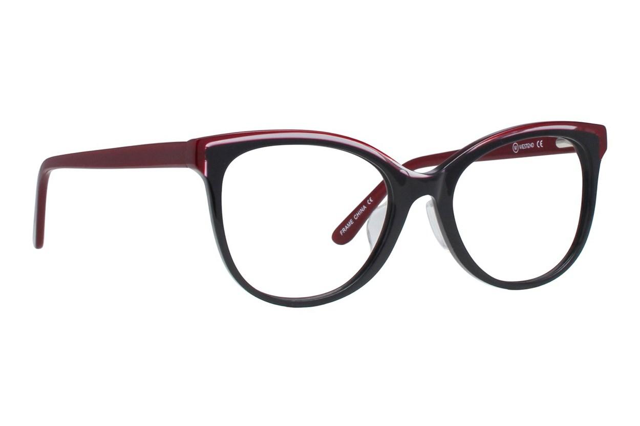 Westend Pepper Pike Comfort Fit Black Glasses