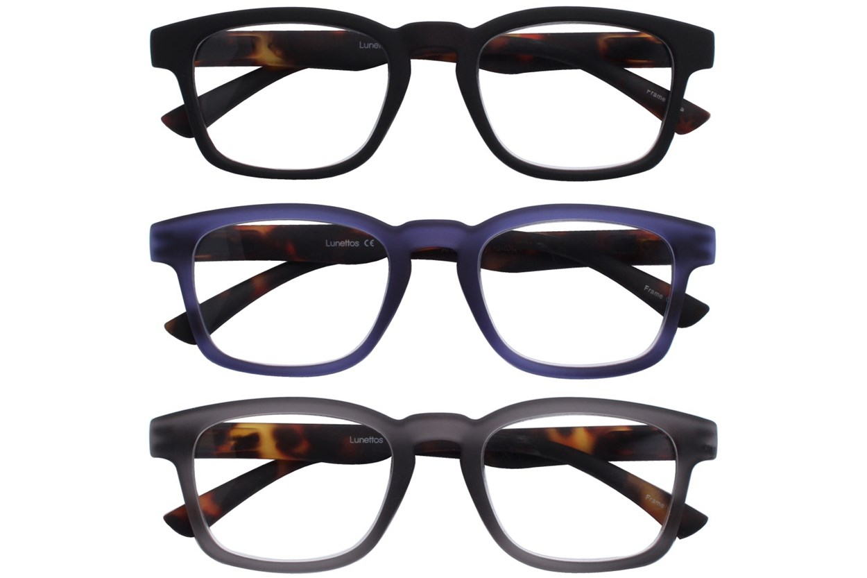 Lunettos Archer Reading Glasses 3-Pack  ReadingGlasses