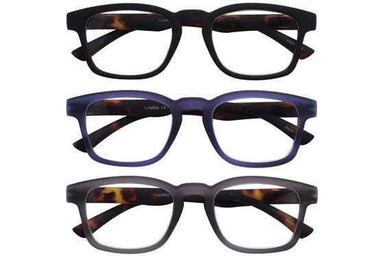 Lunettos Archer Reading Glasses 3-Pack