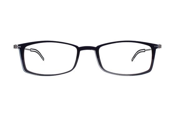 ThinOPTICS Front Page Blue Light Blocking Computer Glasses + Milano Black Case Black ComputerVisionAides