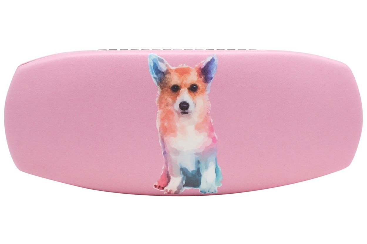 CalOptix Corgie Eyeglass Case Pink GlassesCases