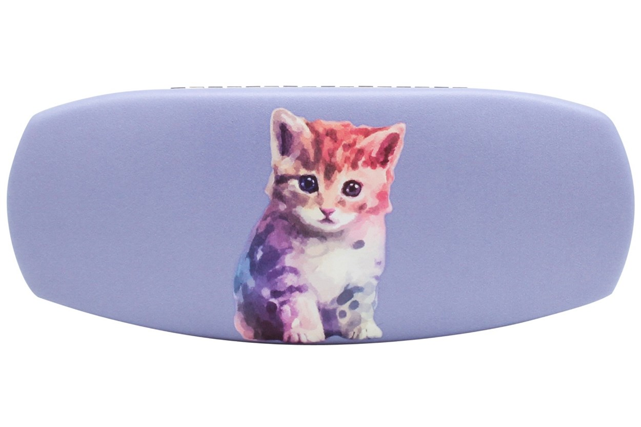 CalOptix Kitten Eyeglass Case Purple GlassesCases