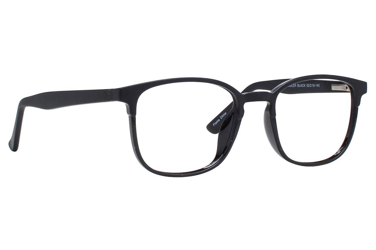 Affordable Designs Chandler Black Glasses