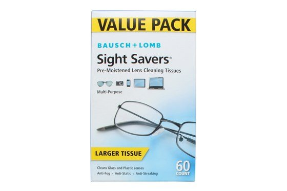 Bausch and Lomb Sight Savers Pre-Moistened Lens Cleansing Tissue (60 Towelettes) GlassesCleaners