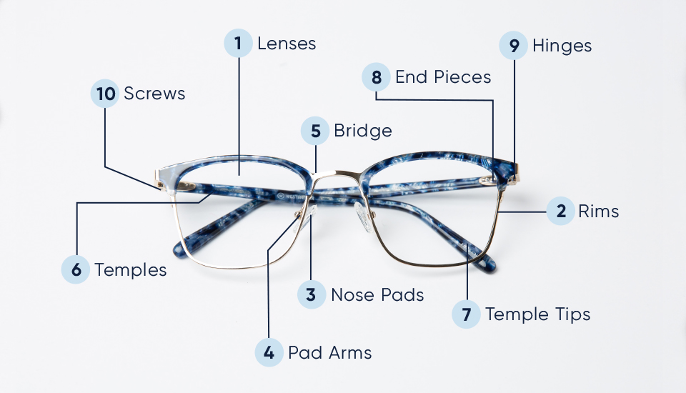 Eyeglasses Frame Parts