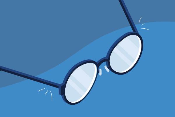Bent eyeglasses frames